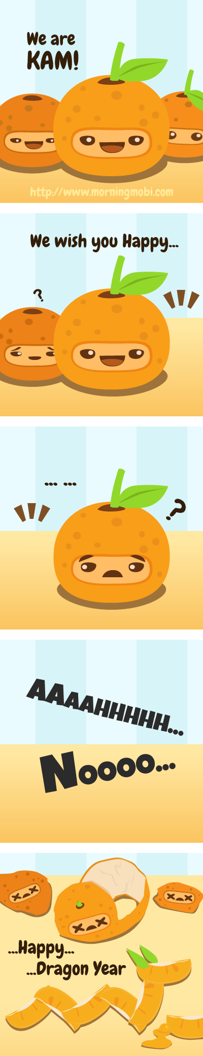 Happy Orange Dragon Year - Morningmobi Web Comics