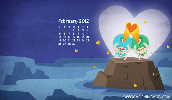 February 2012 Wallpaper - Morningmobi.com