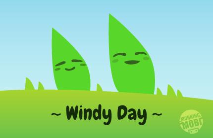 Windy Day - MorningMobi Web Comics