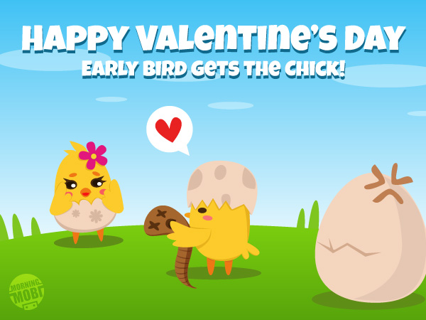 Happy Valentine's Day - MorningMobi.com - The Web Comics and Cute Characters