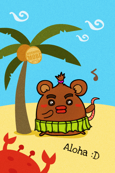 Aloha Mouse - MorningMobi Character Design Web Comics