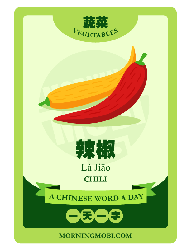 A Chinese Word A Day 辣椒 Chili
