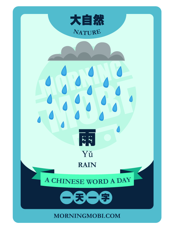 A Chinese Word A Day 雨 Rain