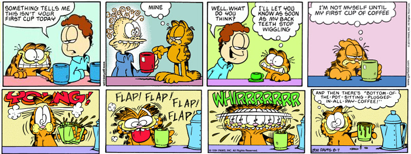 2 Garfield coffee expressions