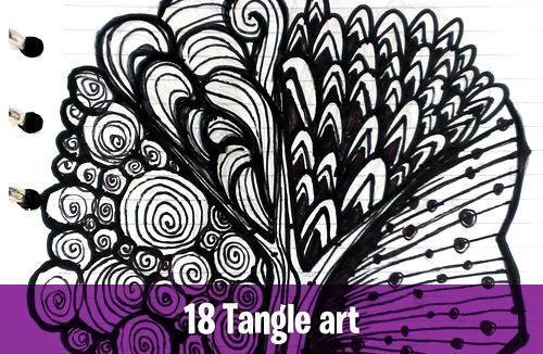 18 Tangle art