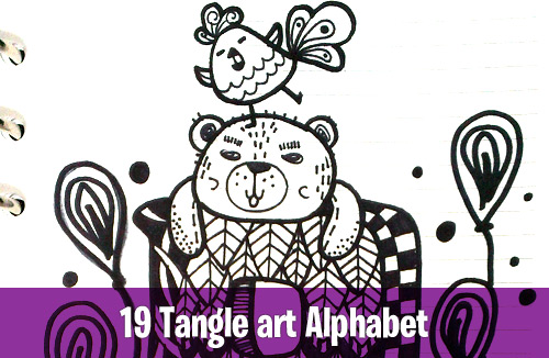 19 Tangle art alphabet