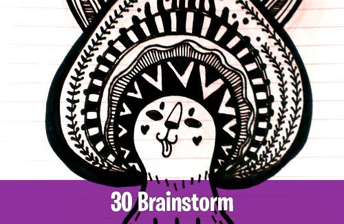 30 Brainstorm art doodle