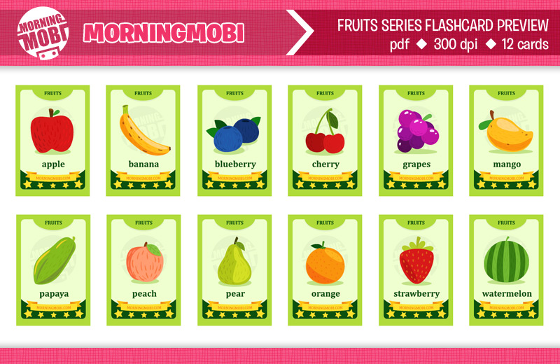 Fruits flashcard