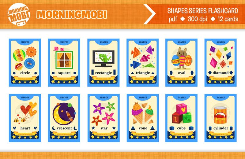 English shapes flashcard
