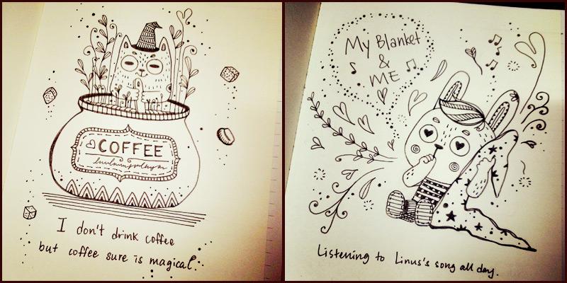 MorningMobi Su Ann Year of Creative Habits drawings