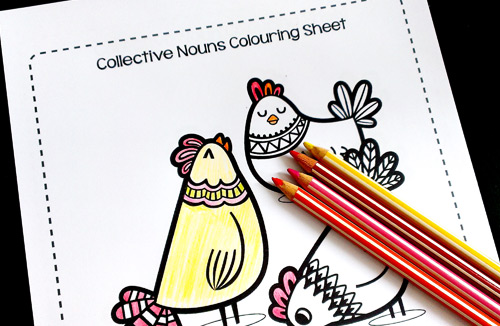 Collective Nouns Colouring Sheets