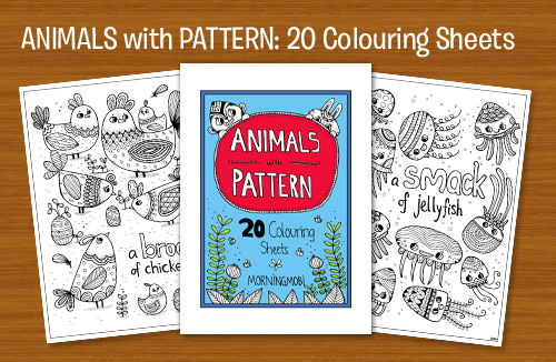 Animals with Pattern Colouring Book (with giveaway)