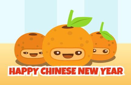 Happy Orange Dragon Year - Morningmobi Web Comics