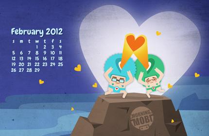 February 2012 Wallpaper - Morningmobi.com