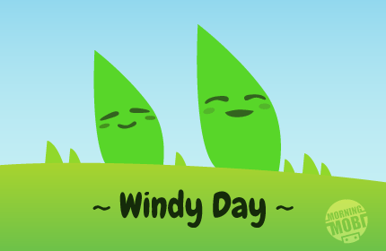 Windy Day - MorningMobi Web Comics