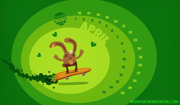 April 2012 Wallpaper - MorningMobi.com The Web Comics