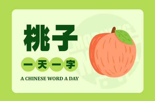 A Chinese Word A Day 桃子 Peach