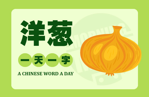 A Chinese Word A Day – 洋葱 Onion