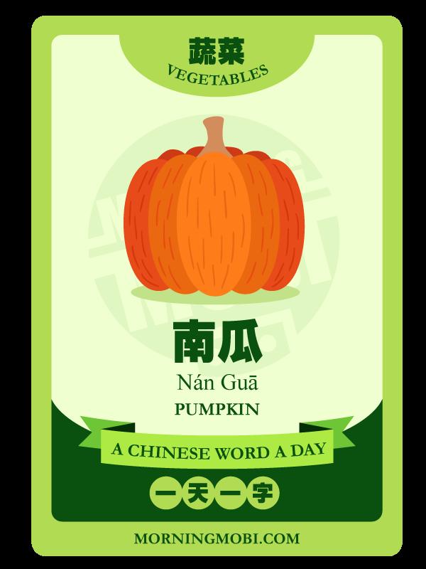 A Chinese Word A Day 南瓜 Pumpkin