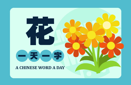 A Chinese Word A Day 花 Flower
