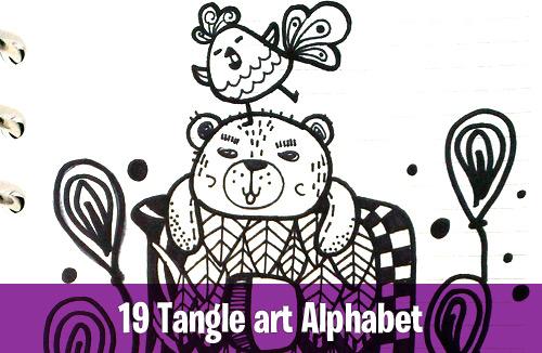 19 Tangle art alphabet